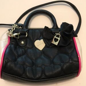 Betsey Johnson Purse Handbag Girls black pink